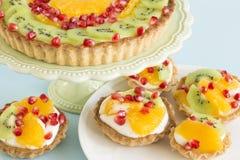 Smakelijk gebakje met vruchten royalty-vrije stock afbeelding