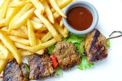 Smakelijk geroosterd vlees royalty-vrije stock foto's