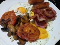 Smakelijk groot Engels ontbijt Stock Foto