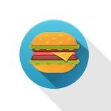 Smakelijk hamburgerpictogram Stock Afbeeldingen