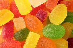 Smakelijk kleurrijk geleisuikergoed als achtergrond stock afbeeldingen