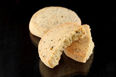 Smakelijk koekje met lavendel royalty-vrije stock fotografie