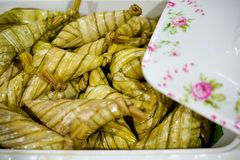 Smakelijk van ketupatpalas royalty-vrije stock foto