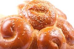 Broodje met sesam   Stock Afbeelding