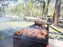 Smakelijk vlees bij de grill Stock Afbeelding