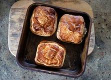 Smakelijk vlees of plantaardige pastei Stock Fotografie