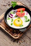 Smakelijk voedsel gebraden ei royalty-vrije stock foto