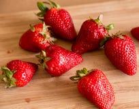Smakelijke aardbeien Stock Foto