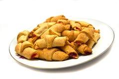 Smakelijke broodjes op plaat Royalty-vrije Stock Foto