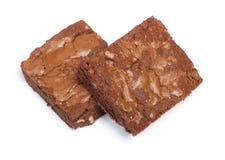 Smakelijke chocolade brownies pastei royalty-vrije stock afbeeldingen