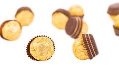 Smakelijke chocoladebonbons Royalty-vrije Stock Afbeeldingen