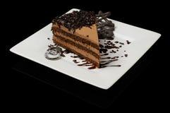 Smakelijke chocoladecake Stock Afbeeldingen