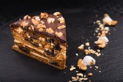 Smakelijke chocoladecake Royalty-vrije Stock Afbeeldingen