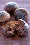 Smakelijke chocolademuffin Royalty-vrije Stock Foto's