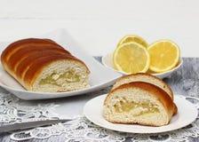 Smakelijke citroencake Royalty-vrije Stock Afbeeldingen