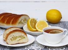 Smakelijke citroencake Stock Afbeelding