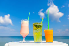 Smakelijke cocktails royalty-vrije stock fotografie