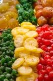 Smakelijke droge vruchten royalty-vrije stock foto's