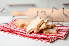 Smakelijke eigengemaakte Kerstmiskoekjes Royalty-vrije Stock Foto