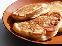 Eigengemaakte pannekoeken Stock Foto