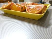 Smakelijke en yummy sinaasappel Stock Foto