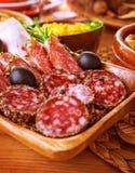Smakelijke fijne vleeswaren Stock Foto