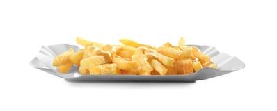 Smakelijke geïsoleerde kaasgebraden gerechten Royalty-vrije Stock Foto