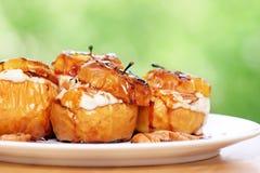 Smakelijke gebakken appelen Royalty-vrije Stock Foto's