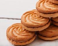 Smakelijke gebakken koekjes stock foto's