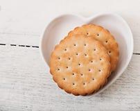 Smakelijke gebakken koekjes stock foto