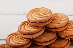 Smakelijke gebakken koekjes royalty-vrije stock foto's