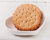 Smakelijke gebakken koekjes royalty-vrije stock afbeelding