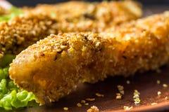 Smakelijke gebakken vissen Royalty-vrije Stock Afbeeldingen