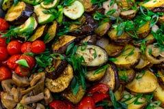 Smakelijke gebraden groenten Stock Afbeelding