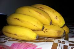 Smakelijke gele banaan stock fotografie