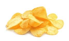 Smakelijke geribbelde chips royalty-vrije stock afbeelding