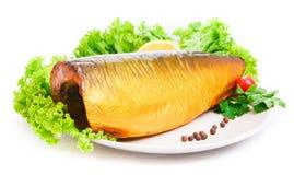 Smakelijke gerookte vissen Royalty-vrije Stock Foto's
