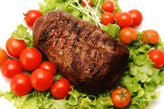 Smakelijke grote het vleesbesnoeiing van het braadstuk Royalty-vrije Stock Fotografie