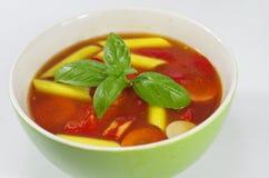 Smakelijke gulashsoep Stock Afbeelding
