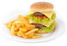Smakelijke hamburger Stock Foto
