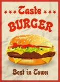 Smakelijke hamburger best in stad Royalty-vrije Stock Foto's