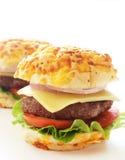 Smakelijke hamburgers royalty-vrije stock afbeelding