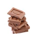 Smakelijke hap van melkchocola. royalty-vrije stock afbeeldingen
