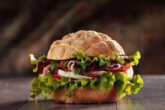 Smakelijke Italiaanse sandwich Royalty-vrije Stock Foto