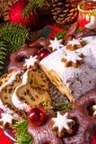 Smakelijke Kerstmis Stollen Royalty-vrije Stock Foto