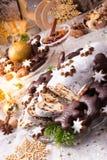 Smakelijke Kerstmis Stollen Royalty-vrije Stock Fotografie