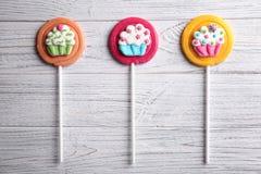 Smakelijke kleurrijke lollys royalty-vrije stock fotografie