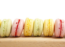 Smakelijke kleurrijke makaron Royalty-vrije Stock Afbeeldingen