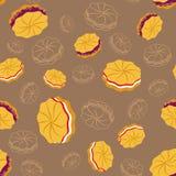 Smakelijke koekjes dackground Stock Foto