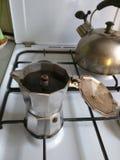 Smakelijke koffie! Stock Fotografie